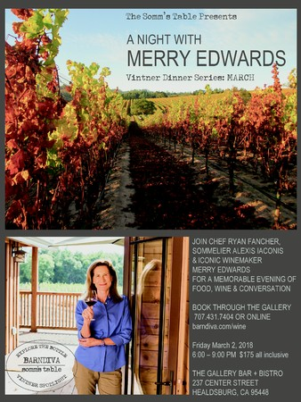 Friday March 2nd A Night With Merry Edwards